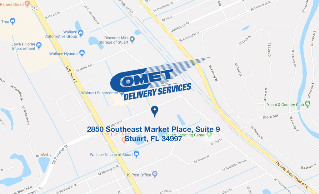 Comet Delivery warehouse worker