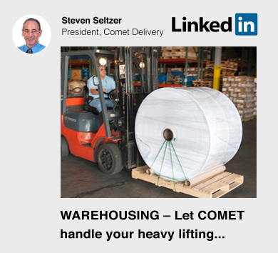 CLet Comet Delivery handle your heavy lifting