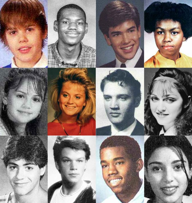 How Many Famous Faces Can You Name From these School Yearbook Photos?