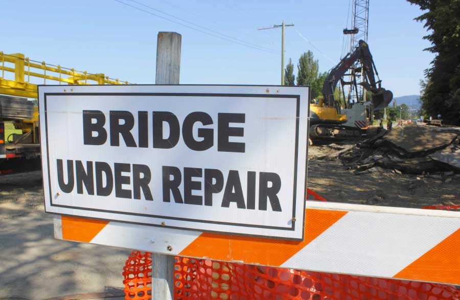 Bridge under repair