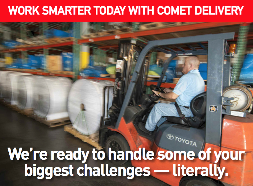 Work Smarter Today With Comet Delivery